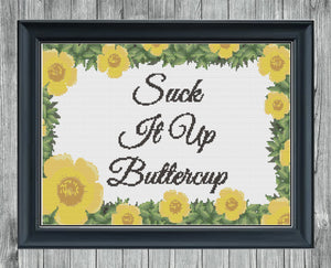 Buttercup: Counted Cross Stitch Pattern and Kit - Stitch Wit