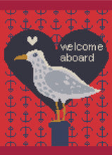 Load image into Gallery viewer, Welcome Aboard: Counted Cross Stitch Pattern and Kit - Stitch Wit