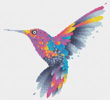 Load image into Gallery viewer, Hummingbird: Counted Cross Stitch Pattern and Kit