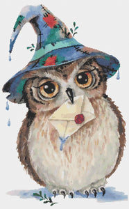 Love Letter Owl: Counted Cross Stitch Pattern and Kit