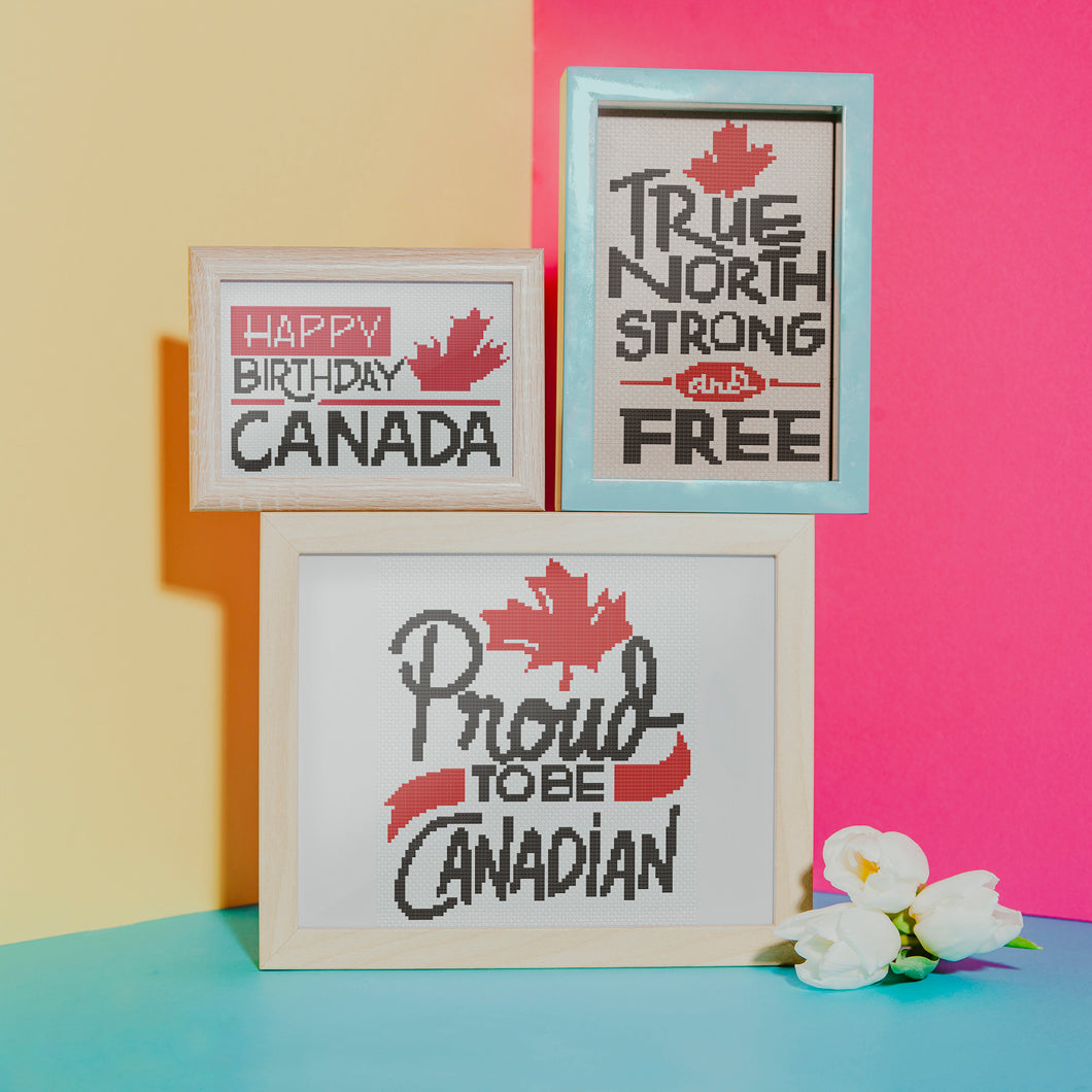 Oh Canada Full Series: Counted Cross Stitch Pattern and Kit
