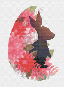 Silhouette Rabbit: Counted Cross Stitch Pattern and Kit