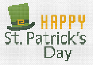 St. Patrick's Day 2021: Free Printable Counted Cross Stitch Pattern