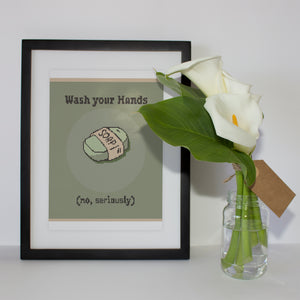 Wash Your Hands: Counted Cross Stitch Pattern and Kit