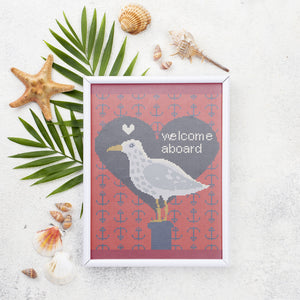 Welcome Aboard: Counted Cross Stitch Pattern and Kit - Stitch Wit