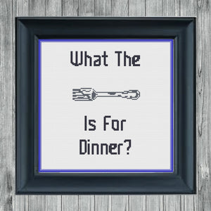 What the Fork?: Free Printable Counted Cross Stitch Pattern