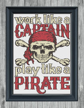 Load image into Gallery viewer, Work Like A Captain: Counted Cross Stitch Pattern and Kit - Stitch Wit