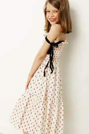 CHERRY PRINTED COTTON Dress