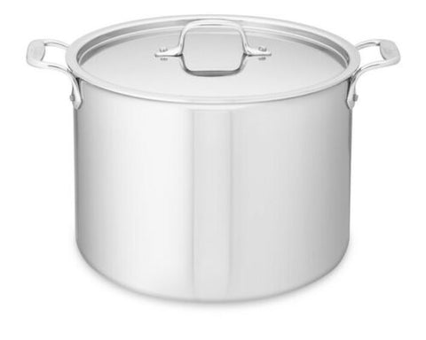 All-Clad 4512 Stainless Steel Tri-Ply Bonded 12-qt Stockpot with Lid