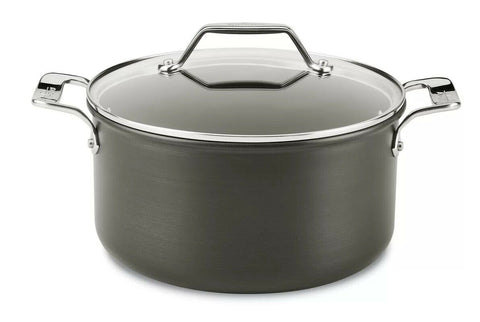 All-Clad Essentials Hard Anodized Bonded Aluminum 4-Quart Covered Soup Pot