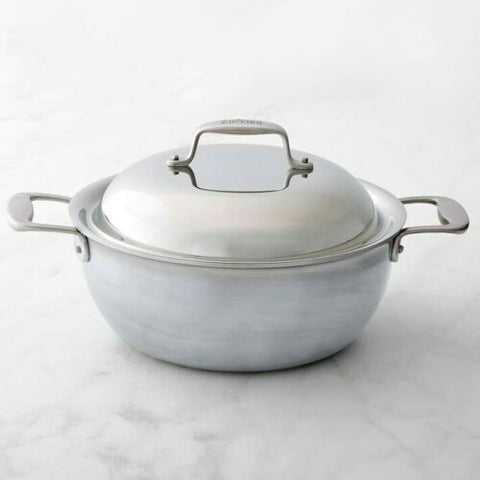 All-Clad TK D5 Brushed 5-PlyDishwasher Safe 5.5-qt Dutch Oven with Dome lid