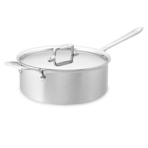 All-Clad d5 Brushed Stainless-Steel Deep 6-Qt. Sauté Pan