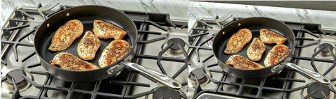"All-clad Essentials 8.5"" and 10.5"" Non-Stick Fry Pan Set. Induction Compatible"