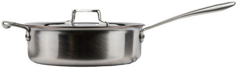 All-Clad TK™ 5-Ply Copper Core 5-qt Sauteuse with D5 Lid.