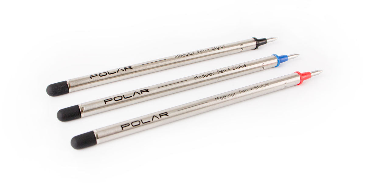 POLAR Pen Refills Black, Blue and Red