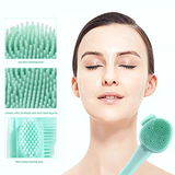 Silicone Portable Double Sided Facial Cleansing Mask Exfoliating Massage Brush With Spatula