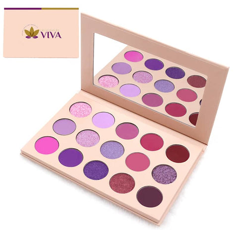 15 Colours Vegan High Pigmented Shimmer Eyeshadow
