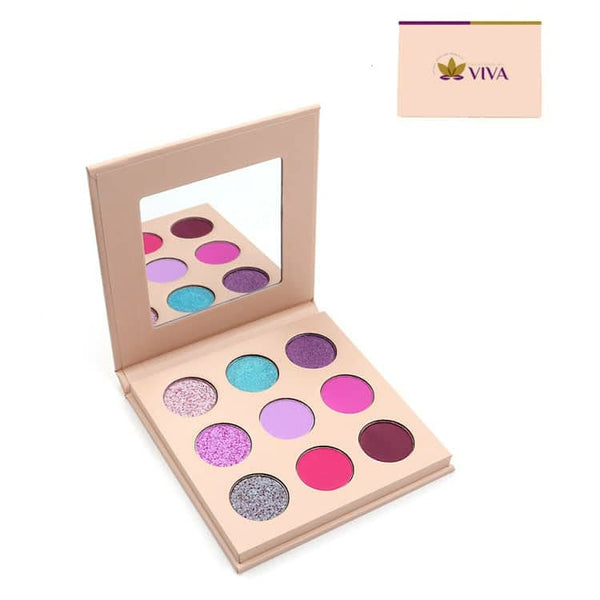 Mini Vegan Waterproof Matte Shimmer High Pigment 9 Palette Eyeshadow