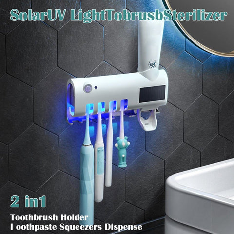 Toothbrush Sterliser with Automatic Toothpaste Dispenser
