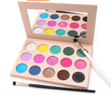 15 Vegan Colours Glitter Shimmer Pigment Pressed Palette Makeup Eyeshadow