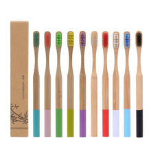 Load image into Gallery viewer, Adult Bamboo Cylinder Handle Toothbrush Oral Care Soft Bristle
