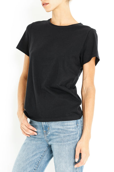 COTTON SILK SHORT SLEEVE CREW