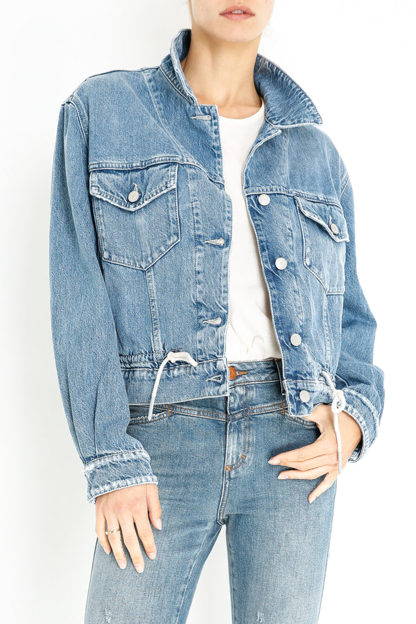 CHENOA JACKET - MID BLUE