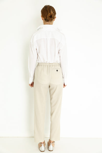 WOOL STRUCTURED JOGGING PANTS