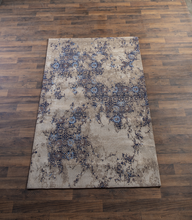 Load image into Gallery viewer, Ganz Tan & Navy Multi Medallion 5' x 8' Jacquard Rug 164549