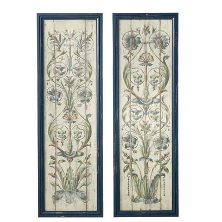 FRAMED FLORAL SCROLL WALL DECOR by Ganz