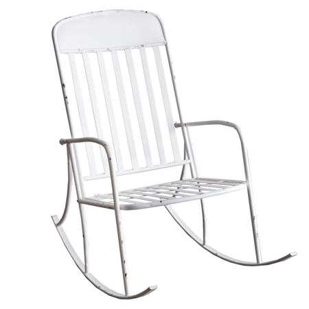 DISTRESSED OUTDOOR ROCKING CHAIR by Ganz