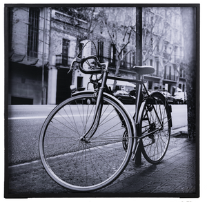 FRAMED BLACK/WHITE BICYCLE PHOTOGRAPHY WALL DECOR by Ganz