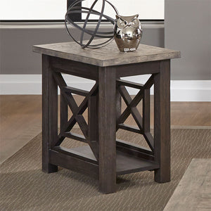 HEATHERBROOK CHAIR SIDE TABLE by Liberty Furniture