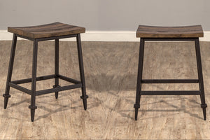 TREVINO METAL NON SWIVEL COUNTER STOOLS by Hillsdale Furniture