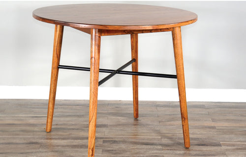 AMERICAN MODERN ROUND COUNTER HEIGHT TABLE by Sunny Designs