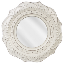 Load image into Gallery viewer, ENAMEL EMBOSSED MEDALLION WALL MIRROR by Ganz