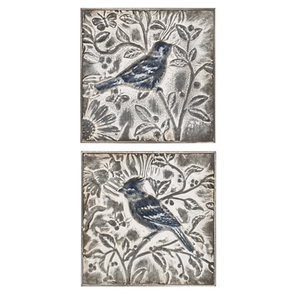 EMBOSSED BIRDS IN BRANCH WALL DECOR (2 pc) by Ganz