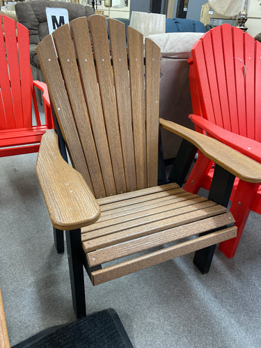 Natures Best Adirondack Chair AC-MHBL Mahogany Wood Grain on Black