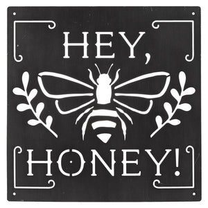 LASER CUT HEY HONEY GUNMETAL WALL DECOR by Ganz