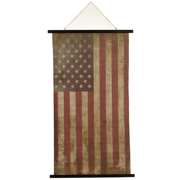 VINTAGE AMERICAN FLAG ROLLED CANVAS DECOR by Ganz