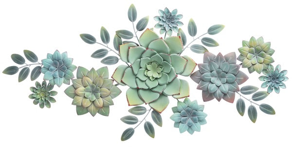 LAYERED MULTI SUCCULENT WALL DECOR by Ganz