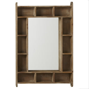 RECTANGLE CUBBY MIRROR by Ganz