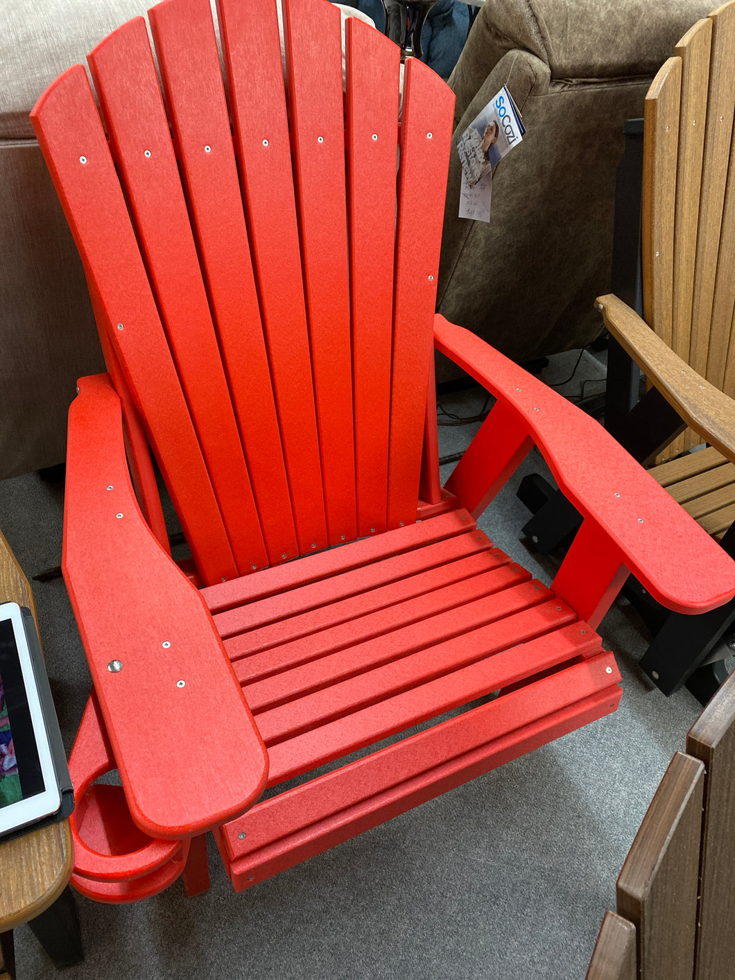 ADIRONDACK CHAIR WITH CUP HOLDER by Natures Best