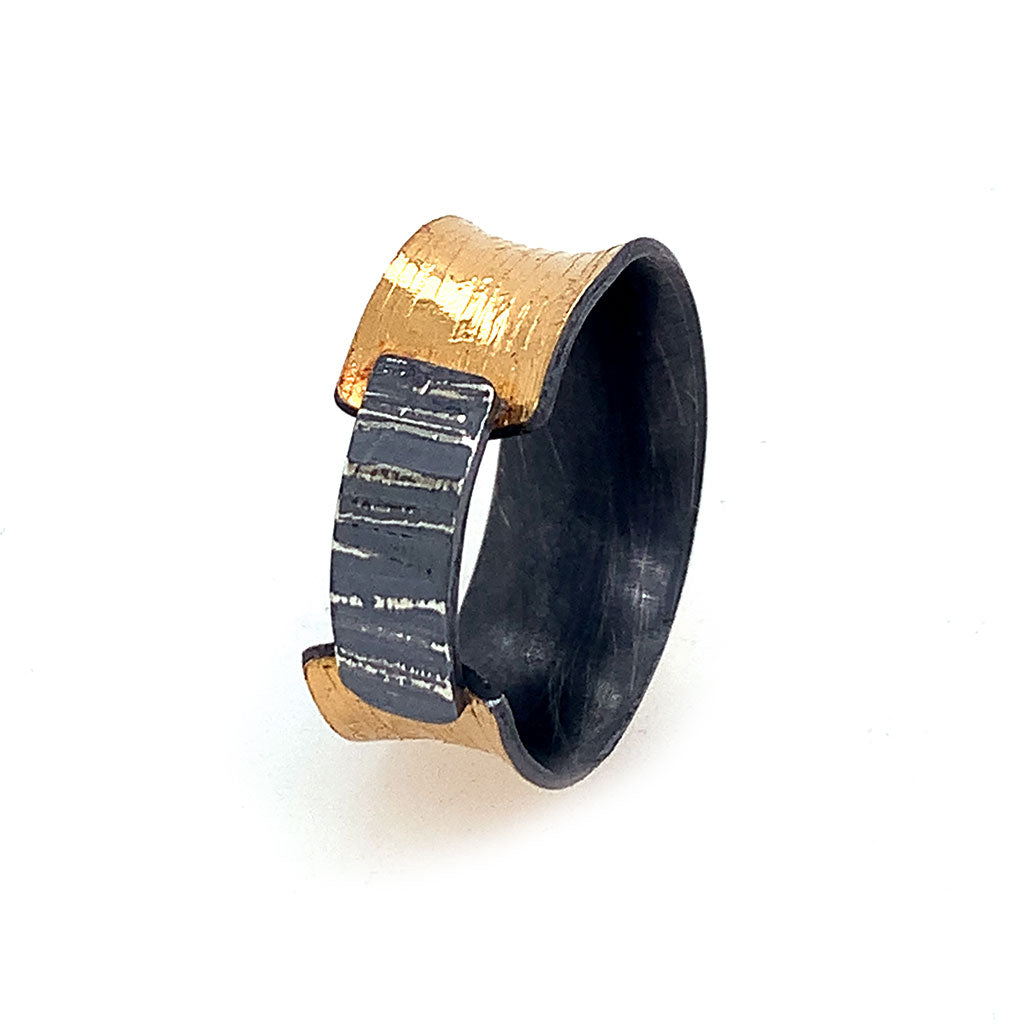 22KBi-Metal Overlapping Ring R552
