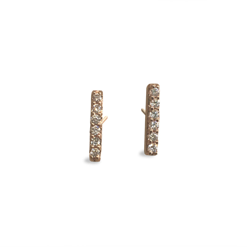 6 Diamond 14K Post earrings - DanaReedDesigns