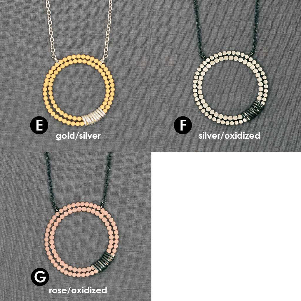 Double Beaded Circle Necklace (N1364/N1365) - DanaReedDesigns