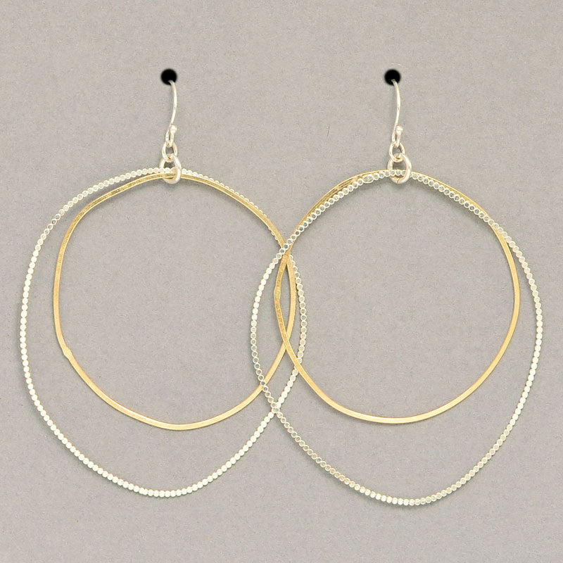 Organic Double Hoop Earrings  (E1113MS) - DanaReedDesigns