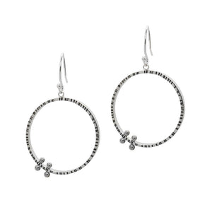 Double Pegged Circle Earrings (E1459) - DanaReedDesigns
