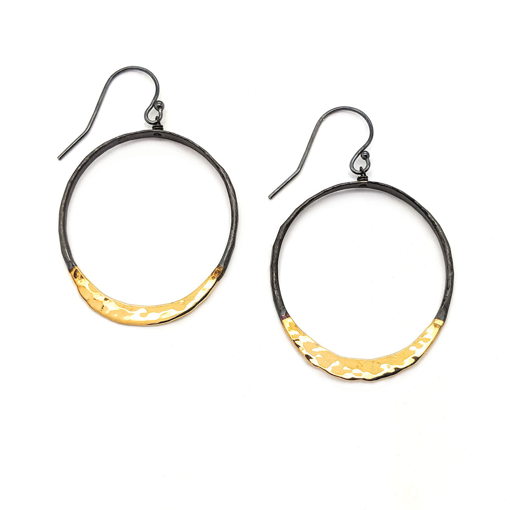 Medium Satin Shiny Eclipse Earrings E1625 - DanaReedDesigns