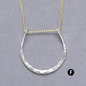 Hammered Horseshoe Necklace (N1015) - DanaReedDesigns
